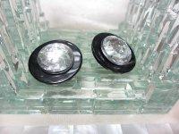 ブラック&クリアプラスティックイヤリング(ヴィンテージ)