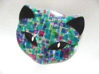 LEA STEIN (リア・スタン)猫の顔のブローチ