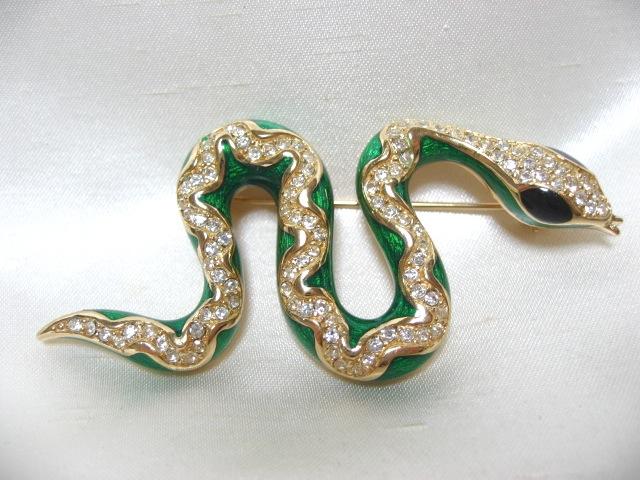 画像1: Chr.Diorクリスチャンディオールスネークピン(ヴィンテージ)