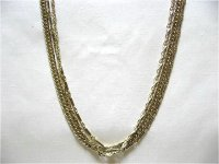 ゴールドメタルチェーン3連ネックレス(ヴィンテージ)