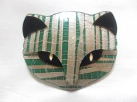 LEA STEIN(リア・スタン)猫の顔のブローチ