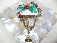 クリスマスランタンのブローチ(ヴィンテージ)