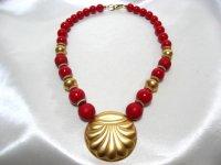 金色の貝のネックレス(ヴィンテージ)