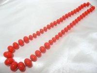 オレンジプラスティックネックレス(ヴィンテージ)