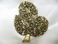 Botticelli木の中がお花のブローチ(ヴィンテージ)