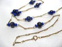 青いアートガラスのネックレス(ヴィンテージ)