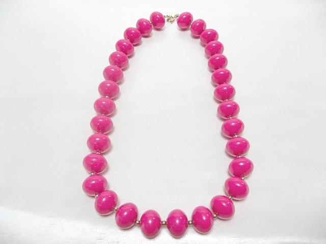 画像1: ローズピンクのネックレス(ヴィンテージ)