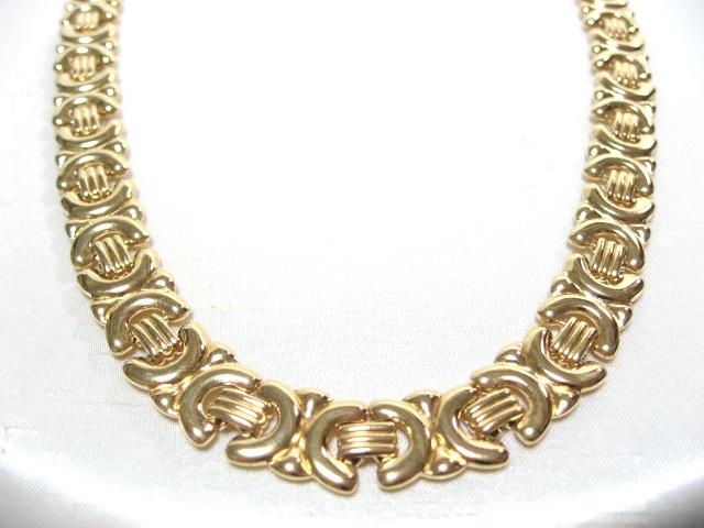 画像1: ゴールドメタルネックレス(ヴィンテージ)