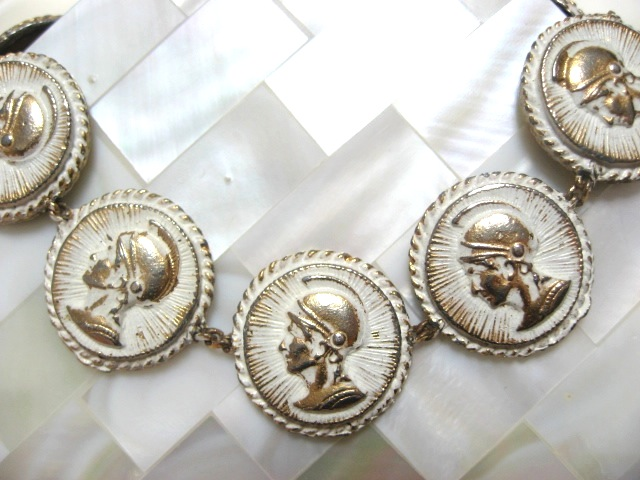 画像1: 騎士のコイン風ブレスレット(ヴィンテージ)