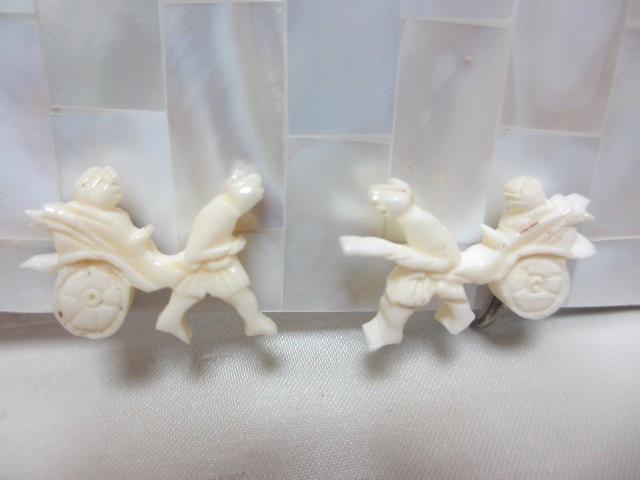画像1: 人力車のイヤリング(ヴィンテージ)