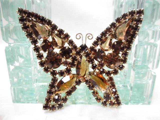 画像1: KRAMER蝶のブローチ(ヴィンテージ)