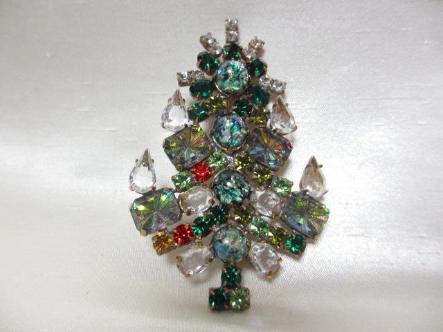 画像1: クリスマスツリーブローチ(ヴィンテージ)