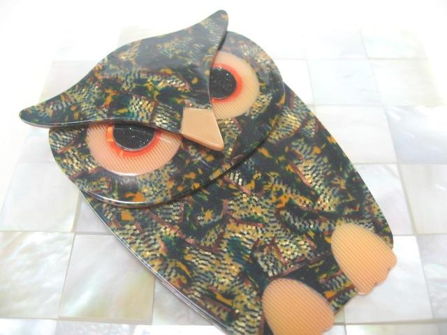 画像1: LEA STEIN (リア・スタン)フクロウのブローチ