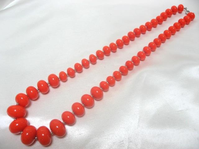 画像1: オレンジプラスティックネックレス(ヴィンテージ)