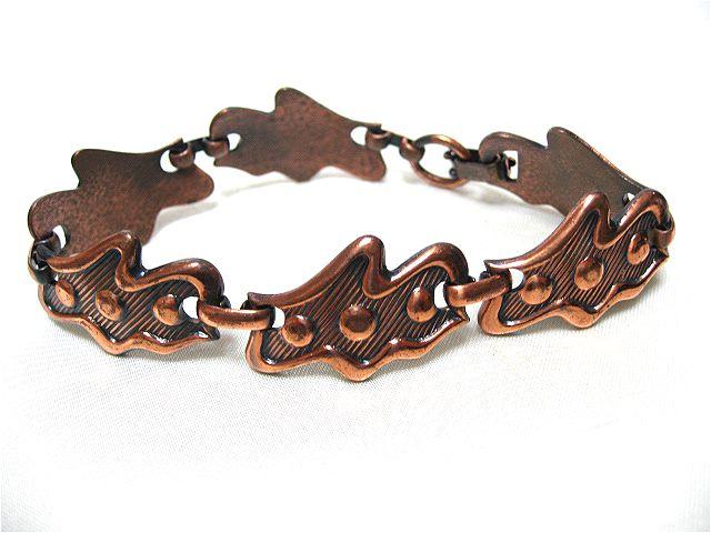画像1: 銅製ユニークなブレスレット(ヴィンテージ)