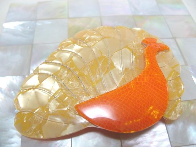 画像1: LEA STEIN (リア・スタン)孔雀のブローチ