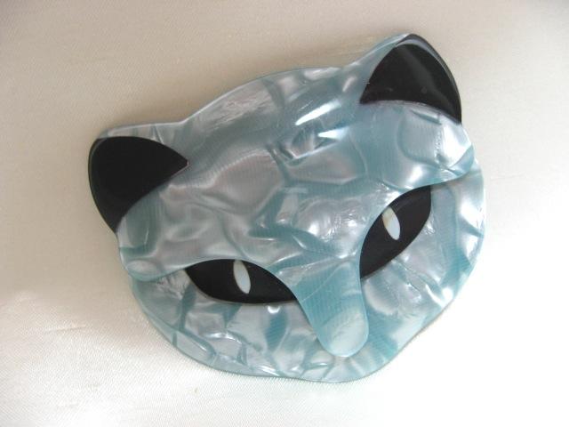 画像1: LEA STEIN (リア・スタン)猫の顔のブローチ