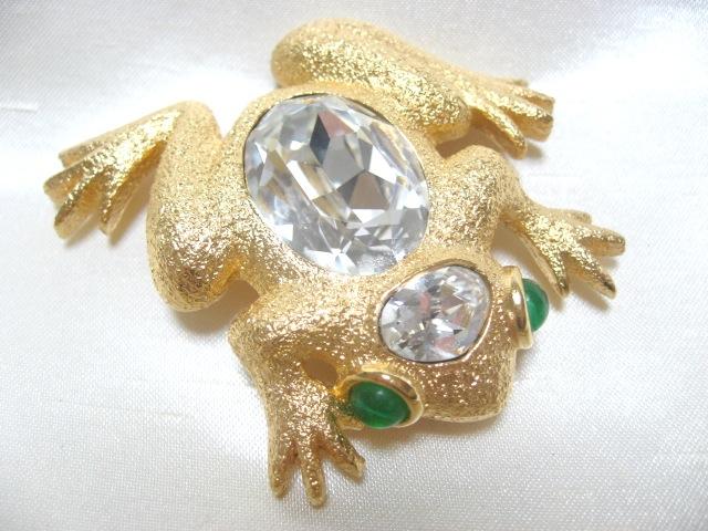画像1: Chr.Diorクリスチャンディオールカエルブローチ(参考商品)