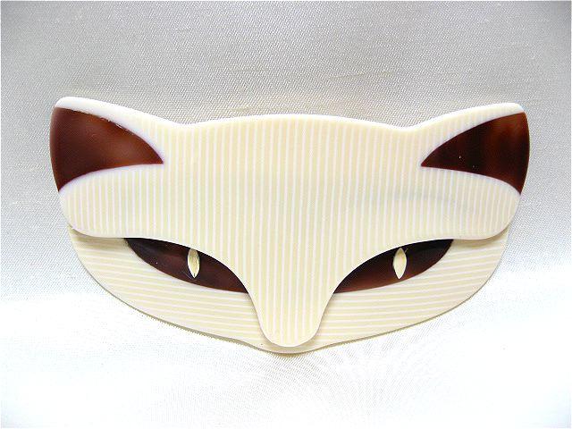 画像1: LEA STEIN(リア・スタン)猫の顔のブローチ