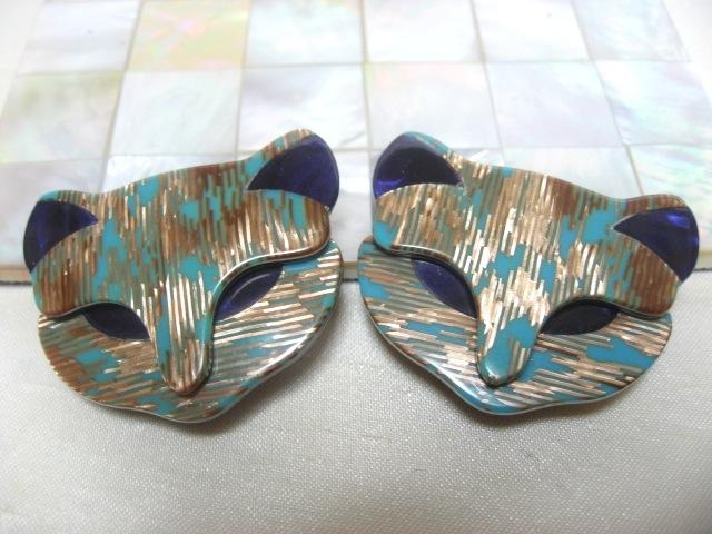 画像1: LEA STEIN (リア・スタン)猫のイヤリング