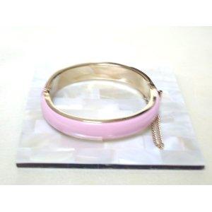 画像: ピンクのエナメルブレスレット(ヴィンテージ)