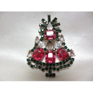 画像: クリスマスツリーブローチ(ヴィンテージ)